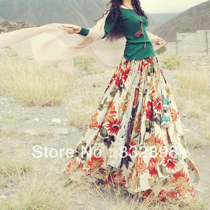 Long full cotton skirts – Modern skirts blog for you