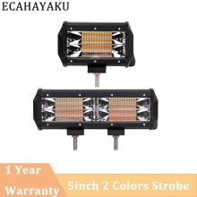 ECAHAYAKU 1 pcs Amber/White 144w 72w 4inch 6.5inch led work light bar for truck SUV ATV 4x4 4WD motorcycle car styling fog