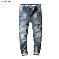 Men Jeans Classic Mens Jeans Blue Color Cotton Jeans For Men Brand Designer Biker Jean Long Pants Dropshipping