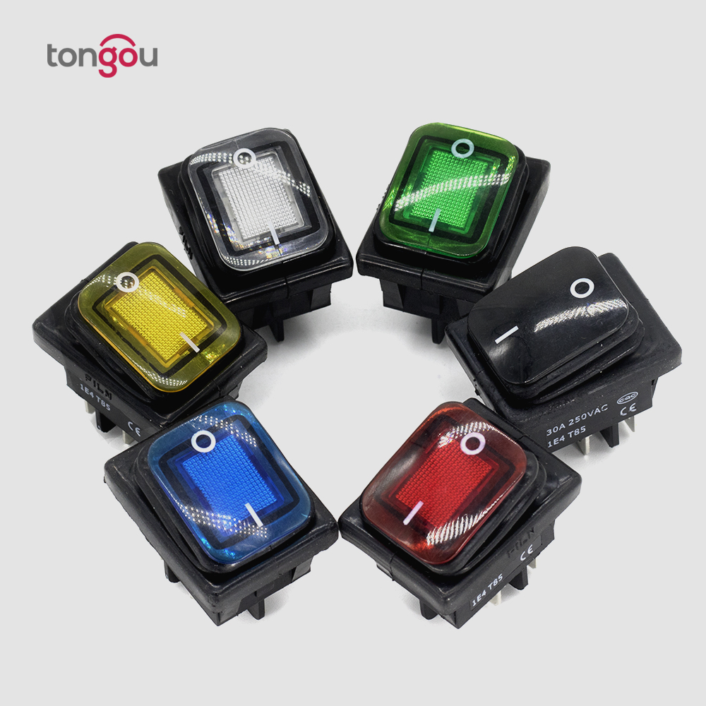 small resolution of 30a 4 pin dpst ip67 t85 sealed waterproof auto boat marine rocker switch with led 6v
