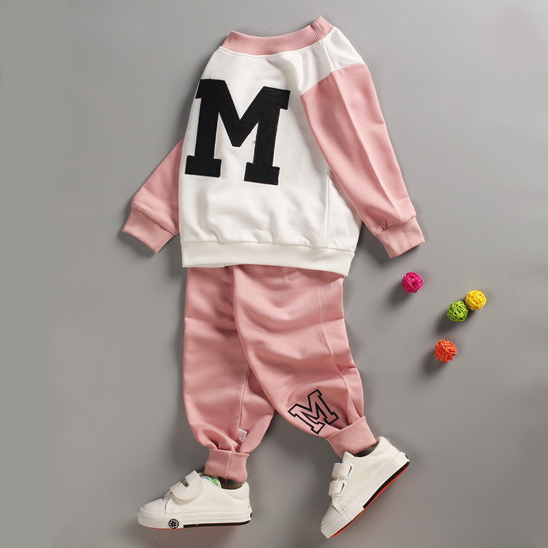 Toddler Tracksuit Autumn Baby Clothing Sets Children Boys Girls Fashion Brand Clothes Kids Pullove T-shirt And Pants 2 Pcs Suits toddler tracksuit autumn baby clothing sets children boys girls fashion brand clothes kids hooded t shirt and pants 2 pcs suits