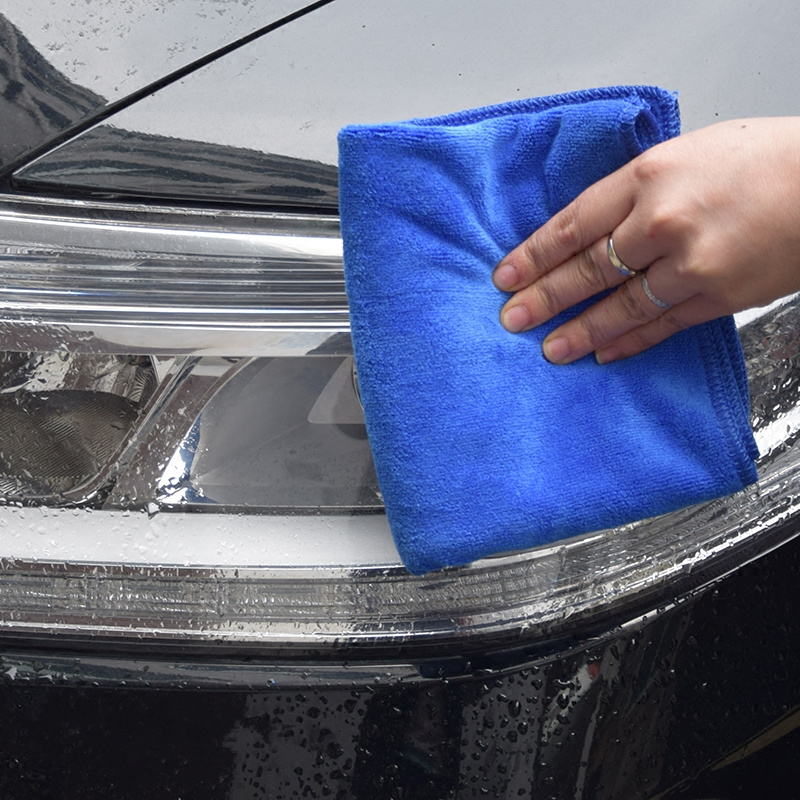 Cleaning Tools Blue Car Cleaning Microfiber Towel Wipe The Oil Stains Dust Rag