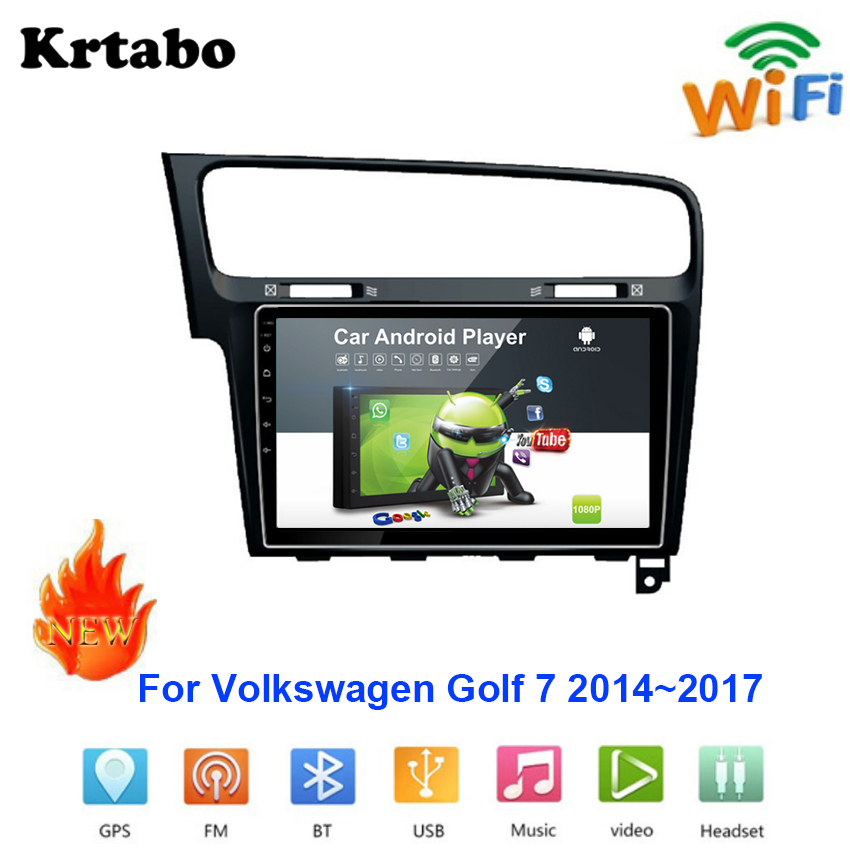 Car radio <font><b>Android</b></font> multimedia player For Volkswagen Golf <font><b>7</b></font> 2014~2017 Car touch screen <font><b>GPS</b></font> Navigation Support Carplay Bluetooth image