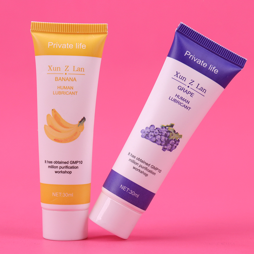 30ML Banana Grape Flavor Intimate Fruit Flavour <font><b>Lubricants</b></font> <font><b>Anal</b></font> Vagina Water Soluble Lubrication Massage Oil <font><b>Anal</b></font> Lube <font><b>Sex</b></font> Gel image