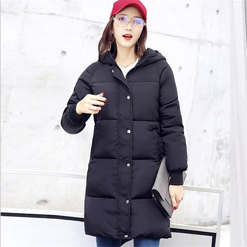 Longues A230 Manches army Femme Long Épais Couleur À Green Solide Capuchon Femmes En Style Coton black Manteau Rembourré pink Grey Nouveau Veste 2018 qPwxT07Ynq