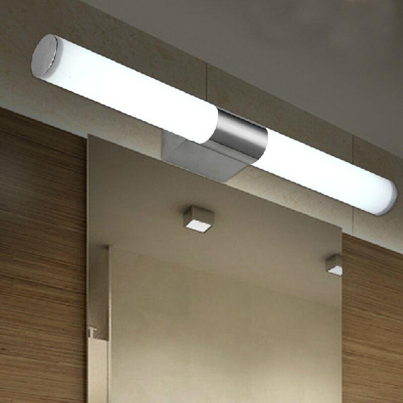 ФОТО makeup LED mirror light modern stainless steel bathroom lamps bathroom wall lamp light Waterproof mirror lights washing room