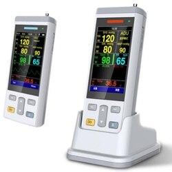 Homecare/clínica handheld sinais vitais monitor paciente monitor portátil spo2 monitor de oxímetro de pulso portátil monitor