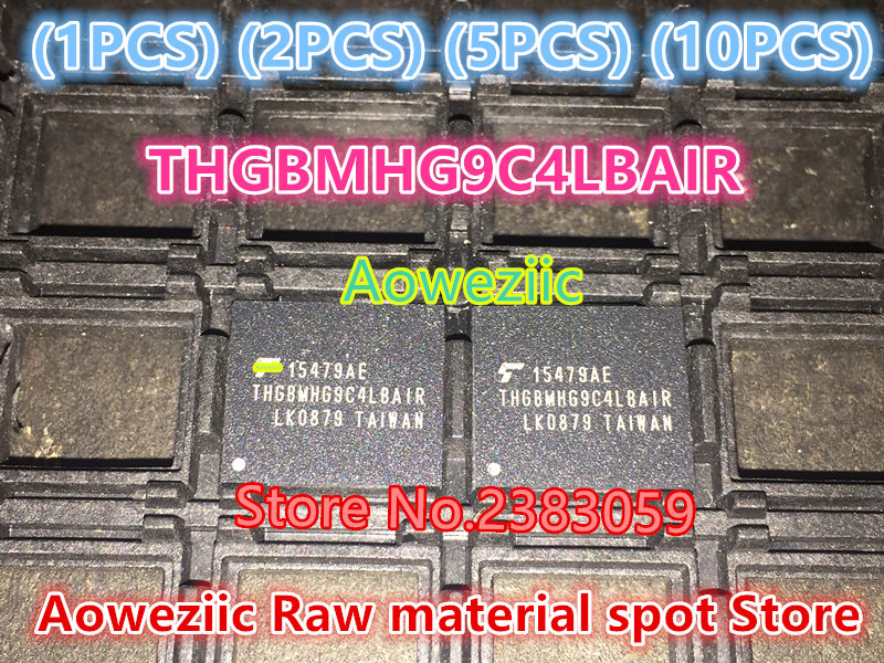 Aoweziic (1PCS) (2PCS) (5PCS) (10PCS)  100% new original    THGBMHG9C4LBAIR  BGA   Memory chip   64G 1pcs 2pcs 5pcs 10pcs 100% new original klmdgageac b001 bga 128gb emmc tablet or mobile storage chip klmdgageac b001