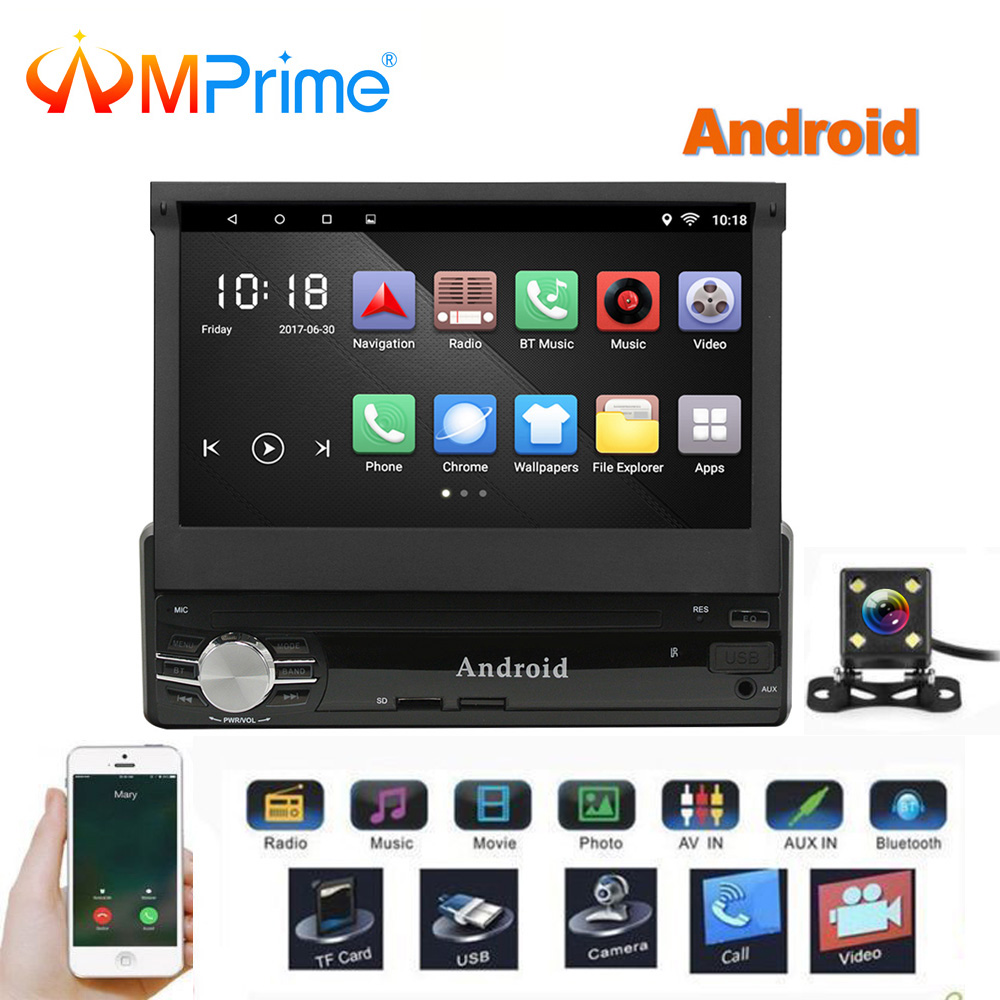 amprime 1 din android car multimedia 7 quad core 6 0 gps mirrorlink car styling autoradio. Black Bedroom Furniture Sets. Home Design Ideas