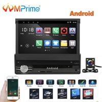 AMPrime 1 Din мультимедиа для Android 7 четырехъядерный 6,0 gps Mirrorlink автомобильный Стайлинг Авторадио Android автомобильный аудио плеер Bluetooth
