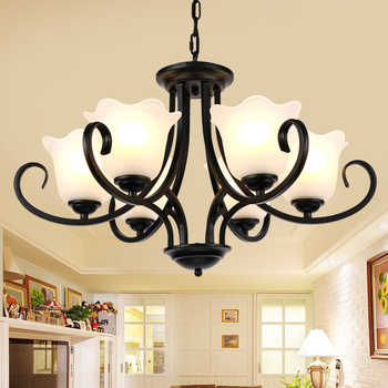 American iron LED chandelier bedroom luminaire dining room fixtures retro living room suspended lamps restaurant hanging lights - DISCOUNT ITEM  30% OFF All Category