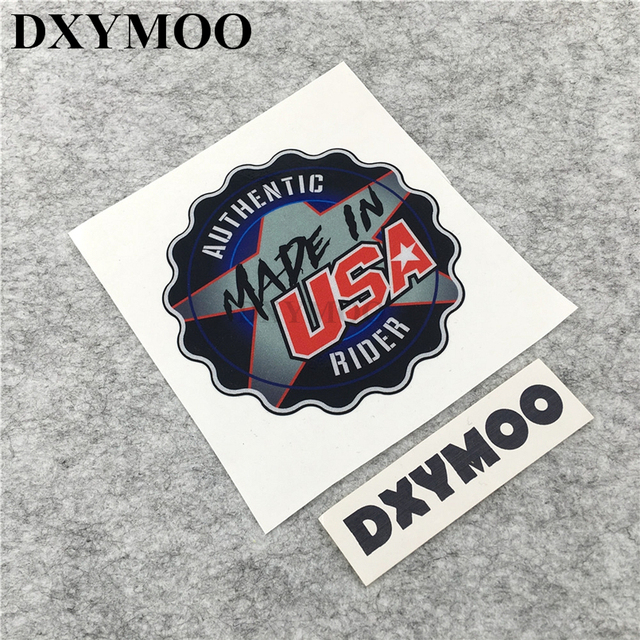 Made in usa car stickers moto gp national united states motorbike helmet vinyl decals car styling