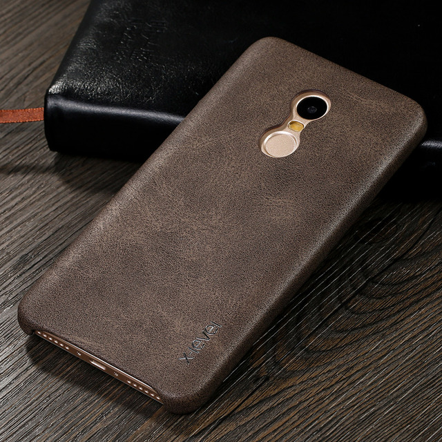 2c79209f7f X-Level High Quality Vintage PU Leather Back Phone Cover Case For Xiaomi  Redmi Note 4 /Redmi Note 3 Luxury Back Case Cover