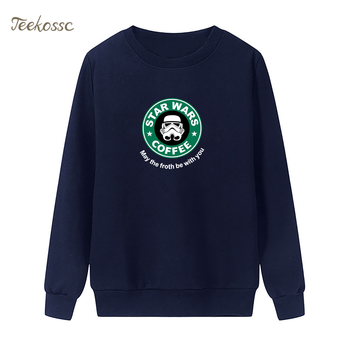 Star Wars Sweatshirt Coffee Print Hoodie 2018 New Brand Winter Autumn Women Lasdies Pullover Loose Fleece StarWars Streetwear