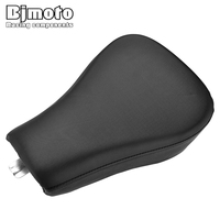 BJMOTO Motorcycle Driver Front Leather Pillow solo Seat Cushion Pad For Harley Forty Eight XL1200X Sportster 1200 Iron 883