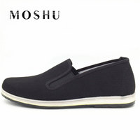 Women Men Casual Shoes Flat Canvas Shoes Slip On Canvas Espadrilles Trainers Chinese Kongfu Style Unisex
