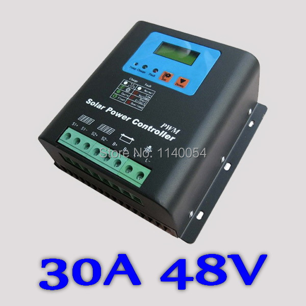 30A 48V Solar Charge Controller, Home Use 48V Battery Regulator 30A 2016 NEW Electronic LCD Display30A 48V Solar Charge Controller, Home Use 48V Battery Regulator 30A 2016 NEW Electronic LCD Display