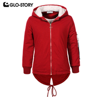GLO STORY Ship From Hungary Teenage Children Girls 2018 Knitted Hooded Coats Kids Winter Thick Fleece Sweatshirts Clothes 6877