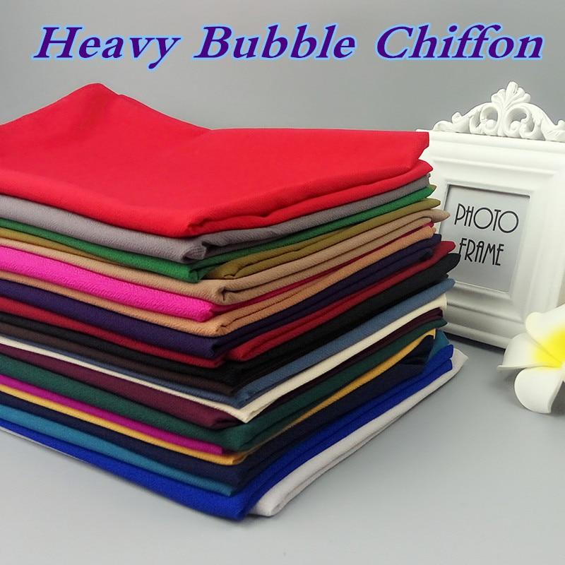 K187 Heavy Plain Bubble Chiffon High Quality Wrap Hijab Shawl