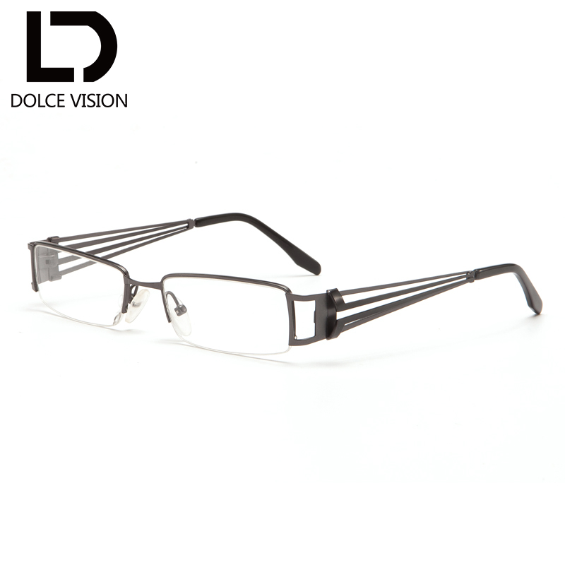38dfeea7e3 DOLCE VISION Classic Design Rectangle Degree Prescription Glasses Men  Hollow Out Clear Lens Graduated Glasses Gafas de hombre-in Prescription  Glasses from ...