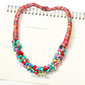 Aliexpress Hot Sale Boho Jewelry for Women Multi-Color Semi-Precious Stone Choker Collar Necklace Beaches Gift Collier Bijoux