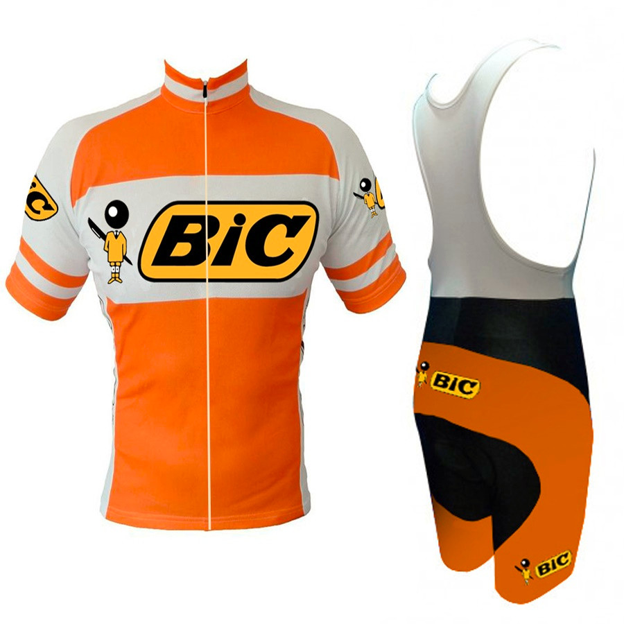 BIC Orange cycling jersey  Cycling Sets Men New style MTB / road bike bicycle clothing wear gel pad Summer Breathable Ciclismo cycling clothing rushed mtb mavic 2017 bike jerseys men for graffiti cycling polyester breathable bicycle new multicolor s 6xl