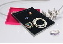 LAN LIN Jewelry Display Trays For Store Stackable Black Trays fashion rings Display Show Case earring receive tray  jewelry rack