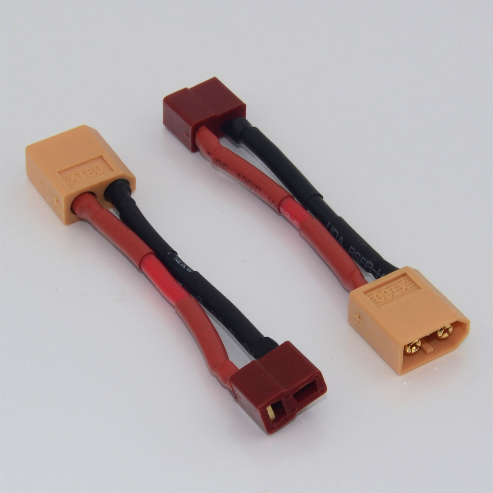 2 x Dean/'s T Plug Male To XT60 Female Wire Connector Adapter Converter NiMH Lipo