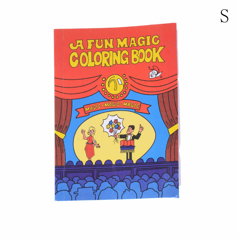 1pc Paper 14*10*0 7cm Funny Comedy Magic Coloring Book Smal/Medium Size  Ellusionist Magic Tricks Illusion Kids Toy Paper Books