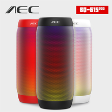 AEC colorful Waterproof LED light Portable Bluetooth Speaker BQ - 615 Wireless Super Bass Mini Speaker with Flashing Lights FM