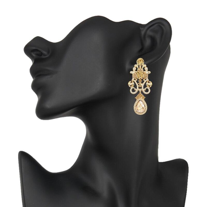HTB12tTJPXXXXXbjXpXXq6xXFXXXs Water Drop Earrings Vintage Rhinestone Crystal Earrings for Woman High Quality