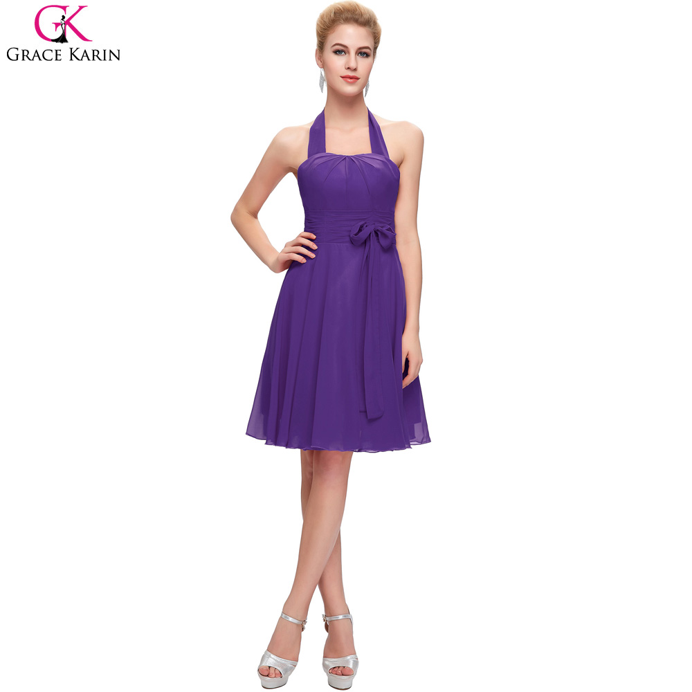 Grace Karin Halter Short Red Pink Fuchsia Royal Blue Purple Cheap ...
