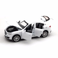 Collection White 1 32 Maserati Ghibli Diecasts Toys Alloy Diecast Car Model Pull Back Electronic Flashing