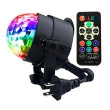 YSH Mini disko topu ışık kapalı LED DJ parti ışıkları 3W uzaktan kumanda sahne ışık dans aydınlatma noel süslemeleri ev için