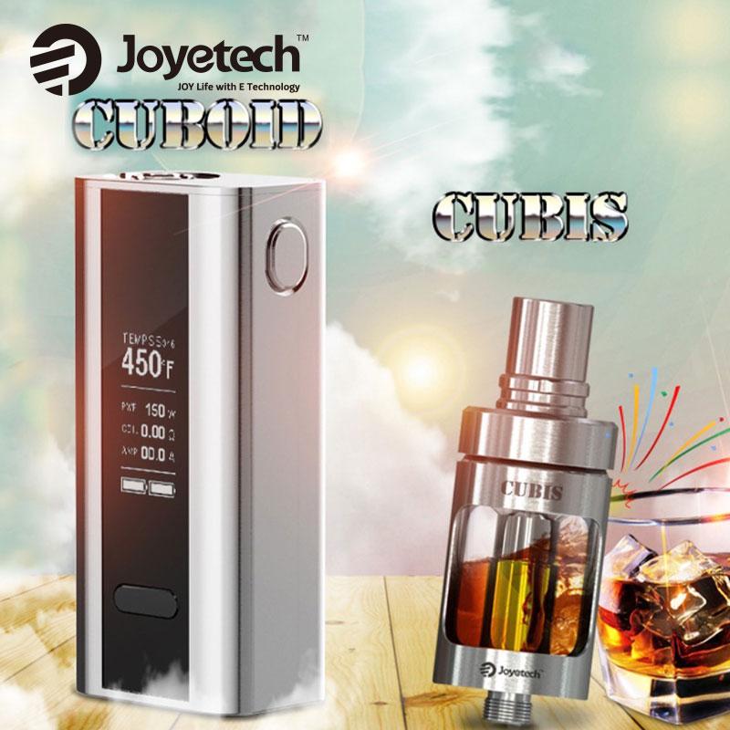 Prix pour D'origine 150 W Joyetech Cuboid TC Mod w/Cubis Réservoir 3.5 ml Boîte de Cigarette électronique Mod Vaping Kit vs Eleaf istick Pico E-cig