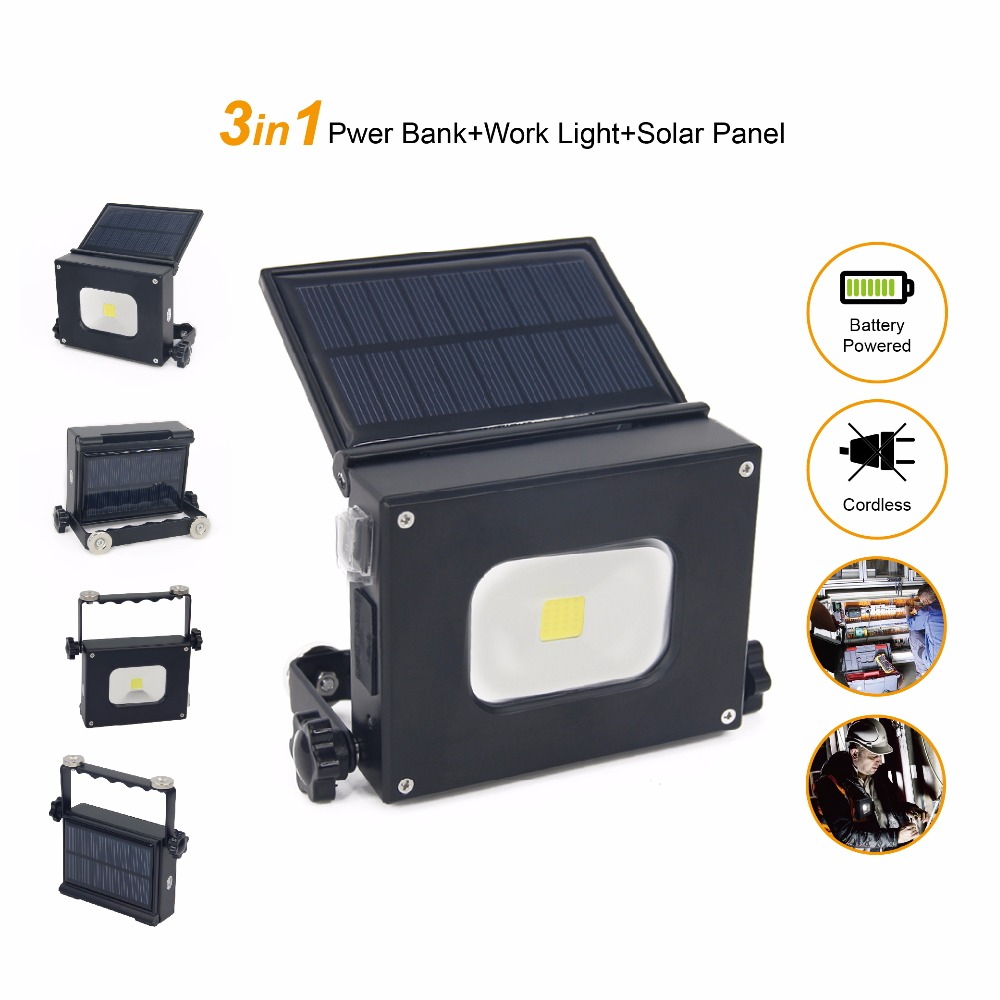 10W solar panel led flood light Portable Lantern Solar Lamp Rechargeable Emergency Work light Waterproof Outdoor Camping Light cob led work light usb rechargeable camping light outdoor portable tent light emergency light maintenance light working lamp red