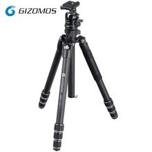 GIZOMOS GP-26C4 + GHA-35D Камера штатив стабильным складной углеродного волокна штатив шаровой головкой комплект для цифровой однообъективной зеркальной фотокамеры DSLR tripode para mov