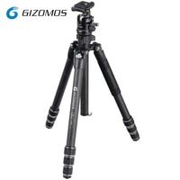 GIZOMOS GP 26C4+GHA 35D Camera Tripod Stable Folding Carbon Fiber Tripod Ball Head Kit For DSLR Digital Camera tripode para mov