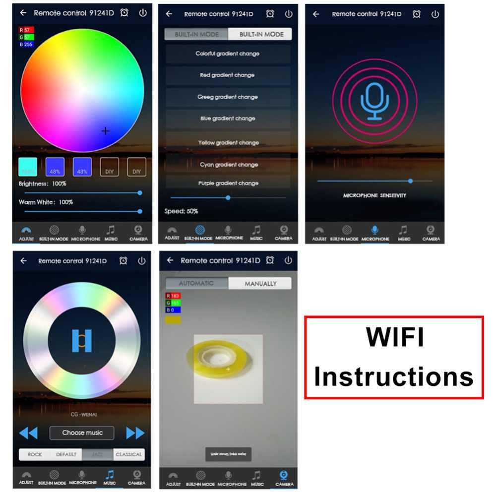 RGB WiFi контроллер 5 В -В 24 В RGBW Bluetooth 4/5 Pin диммер применяется к В 12 в 5050 2835 RGB светодиодные ленты лента лампа Android iOS мобильный телефон