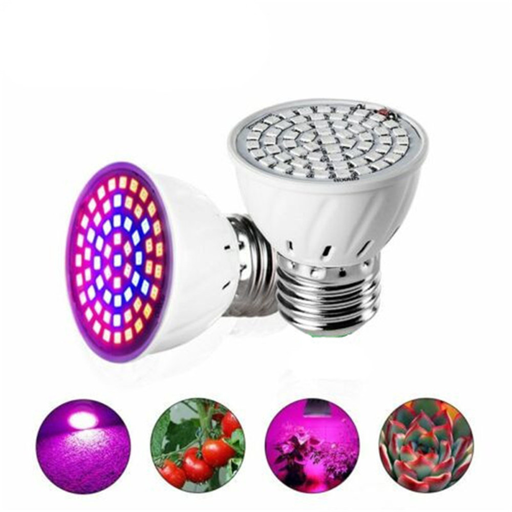 Plants Lamp LED Grow Light Full Spectrum LED Bulbs E27 60leds Seedling Phytolamps Fitolamp For Plant Lighting Flower Lamps