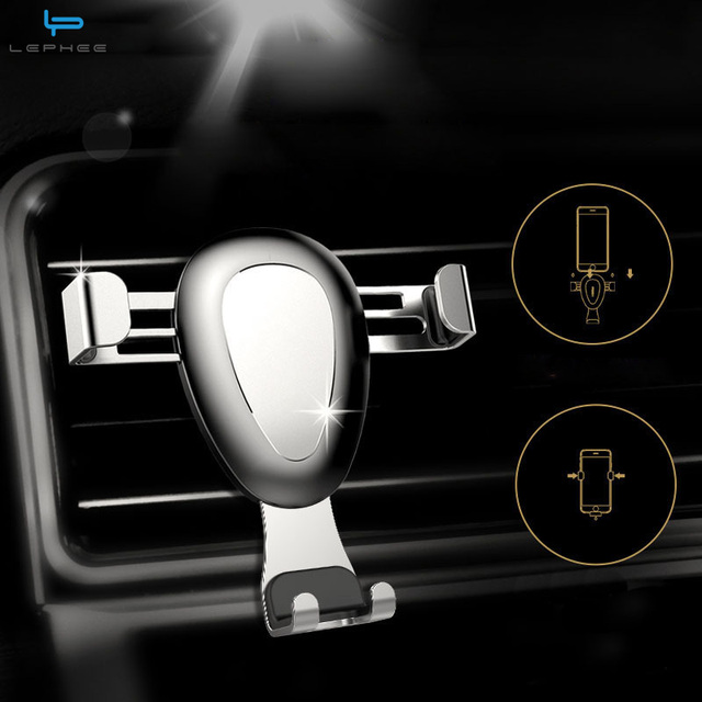 Lephee Universal Car Phone Holder For Iphone For Xiaomi Gravity