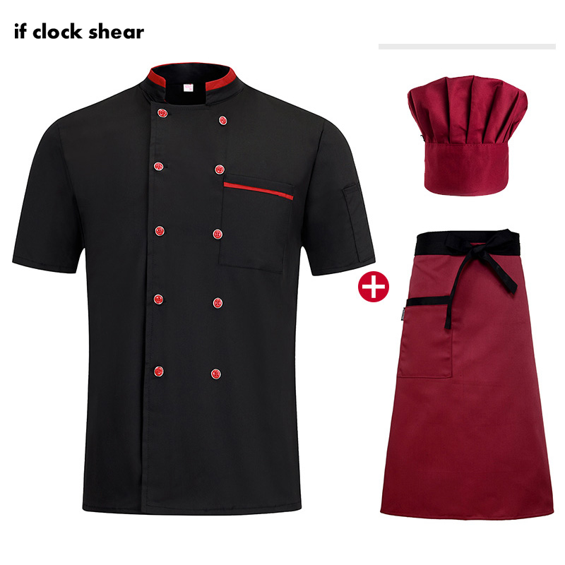 High Quality Hotel Catering Shirt Unisex Double Breasted Chef Restaurant Uniform Bakery Cooker Chef Jacket Kitchen Work Clothes