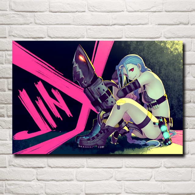 League Of Legends LoL Jinx Game Art Silk Poster Pictures Home Wall Decor Printing 12×18 16X24 20×30 24×36 Inches Free Shipping