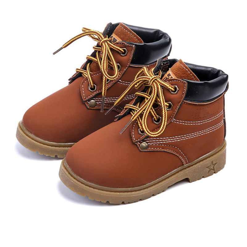 New Boys Girls PU Leather Platform Children Ankle Snow Boot Winter Martin Boots For Kids Shoes Sneakers Casual Baby Toddler Shoe