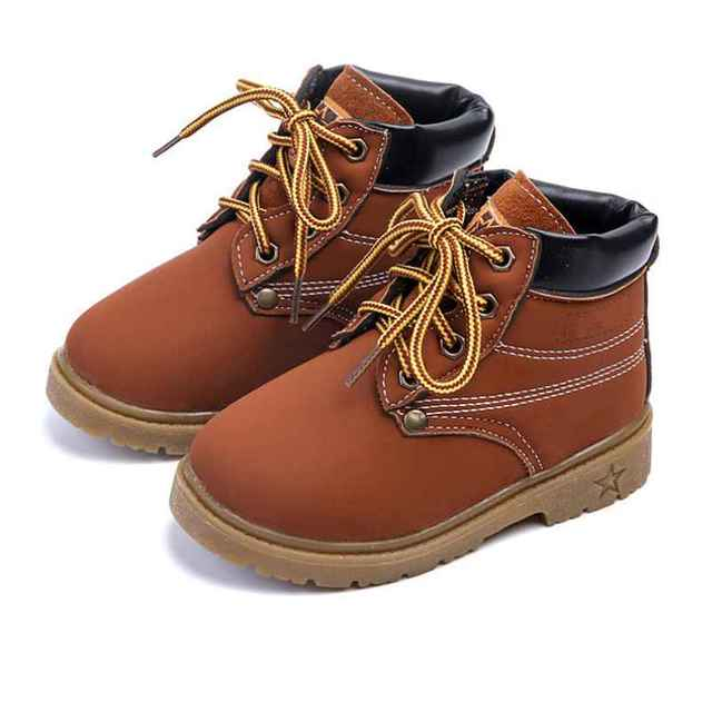 Children Kids Martin Sneaker Ankle Boots Snow Baby Shoes Boy Girls Leather Boots yf6ElN
