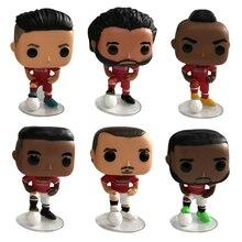 Football Roberto Firmino Sadio Mane Mohamed Salah Zlatan Ibrahimovic Paul Pogba Vinyl Dolls Action Figure Model Toys