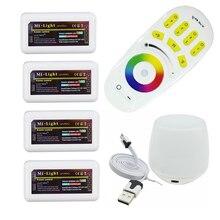 Milight RGB RF Пульт дистанционного управления + 4 ШТ. 4 Зоны RGB Контроллер Поле + Led Wi-Fi Контроллер Для 5050 3528 RGB Светодиодные ленты Или СВЕТОДИОДНЫЙ лампы