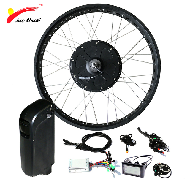 Powerful 1000w 48v fat tire electric bike conversion kit for Fat bike front hub motor