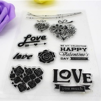 DIY I LOVE YOU Pattern Transparent Clear Rubber Stamp Silicone Seals Scrapbooking/Photo album Decorative Stamp Sheet