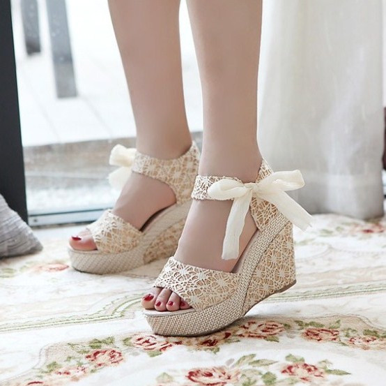Wedge Sandals Female Shoes Platform Open-Toe High-Heels Fashion Summer Size-35-40 New